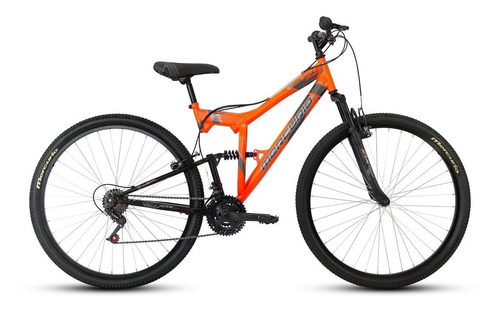 Imagen 1 de 2 de Mountain bike Mercurio Doble Suspensión ZTX DH  2020 R29 18v frenos v-brakes color naranja/negro brillante