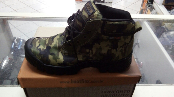 Bota Boot Flex Camuflado Verde