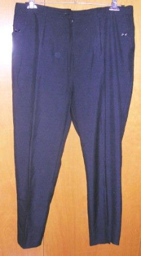 Pantalon De Tela Negro Talle 48