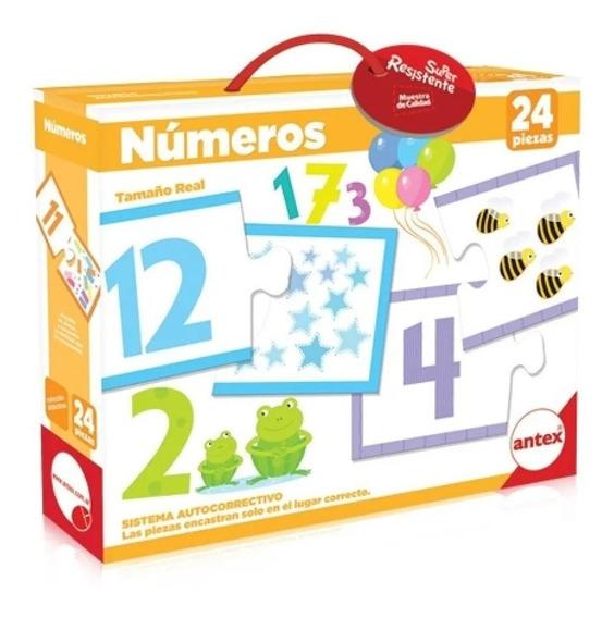 Antex Puzzle Numeros 24 Piezas Colores En Fuga Kids