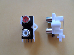 Conector Rca Femea Duplo Para Módulos Amplificadores 2 Pçs