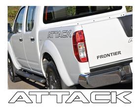 Kit 3 Adesivos Nissan Frontier Attack Acessórios