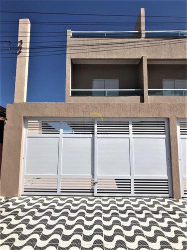 Imagem 1 de 11 de Casa Com 3 Dorms, Mirim, Praia Grande - R$ 450 Mil, Cod: 2054 - V2054