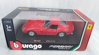 Ferrari 250 Gto Rojo A Escala 1/24 Marca Bburago Metalico