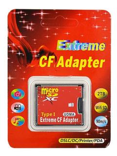 Adaptador Memorias Micro Sd A Cf Tipo I Camaras Teclados