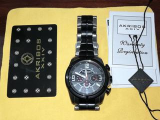 Reloj Akribos Xxiv Ak832ttb Quartz - (microcentro)