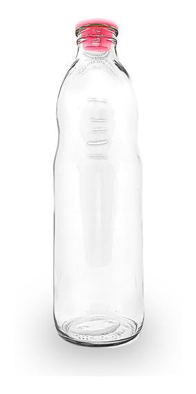Botella Tomate Vidrio P/ Agua Jugo Leche X 1 Litro X 12 Uni