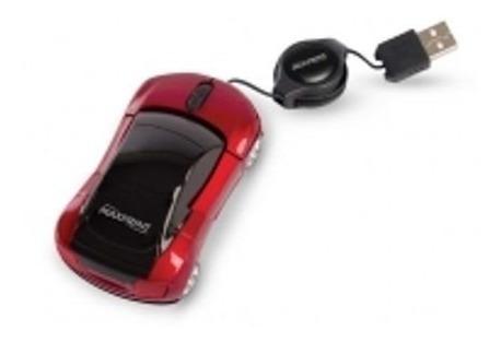 Mini Mouse Óptico Carrinho Com Cabo Retrátil Usb