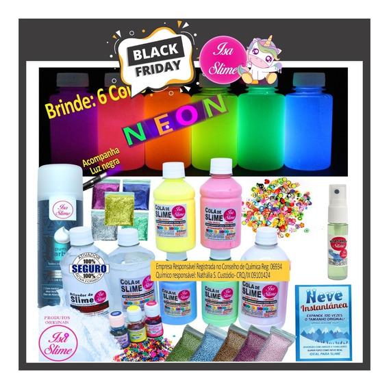 Kit De Slime Premium Da Isa Slime + Colas Neon + Desativador