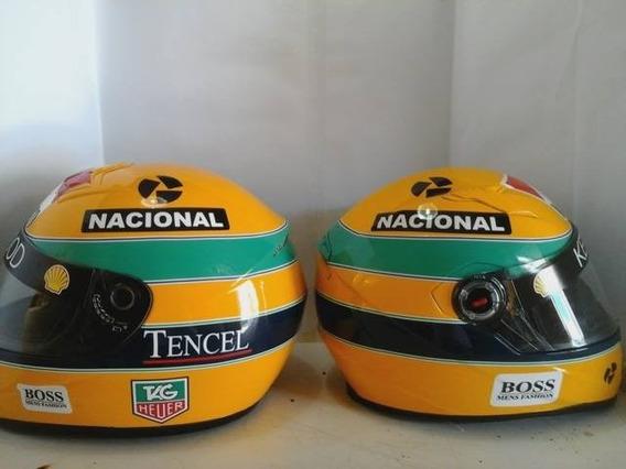 Capacete Senna Todas Temporadas Casco Mt Personalizamos Tb