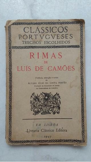 Livro Antigo Luis De Camões Sonetos 1955 Frete Grátis
