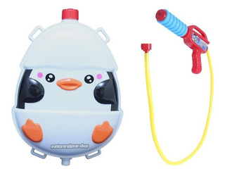 Pistola De Agua Mochila Tanque Juguete Diversión Pingüino