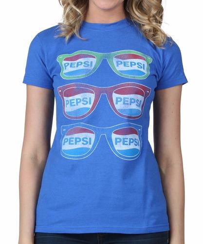 Polo Vintage Mujer Oficial Pepsi