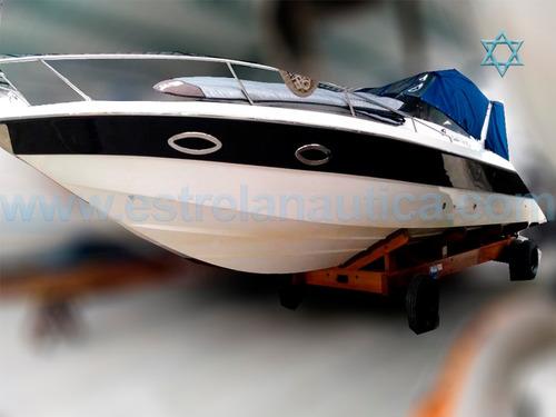 Lancha Carbrasmar 35 Barco Iate Ferretti Azimut Intermarine