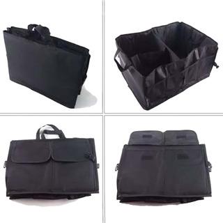 Bolso Organizador Shoppy Para Baul Accesorio Para Auto Camioneta Vehiculos Plegable Reforzado Color Negro