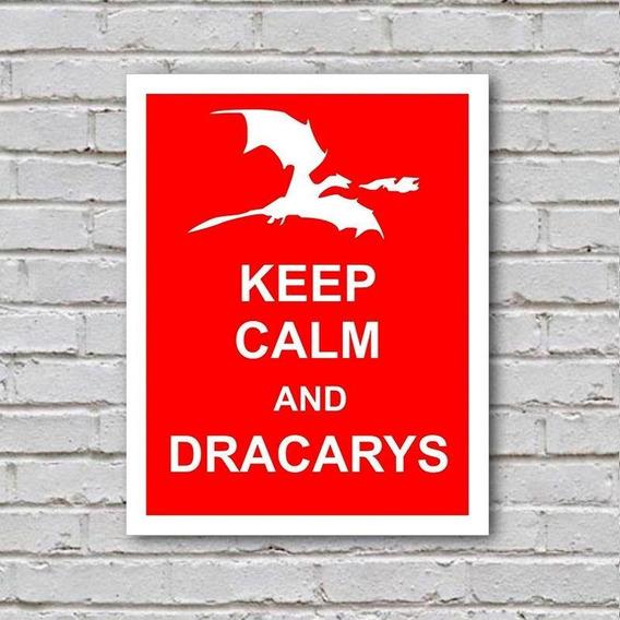 Placa De Parede Decorativa Keep Calm And Dracarys Shopb Novo