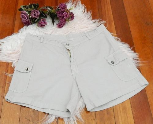 Bermuda Tipo Short Color Gris Talle M De Mujer