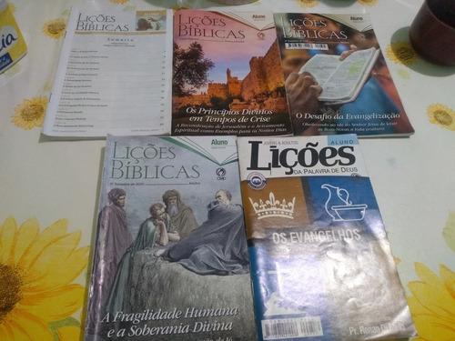 Kit 5 Revistas Ebd Cristã Usadas.