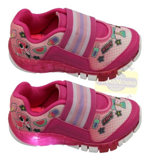 Tênis Kidy Infaltil Meninas Flex Light Pink Ou Rosa Original