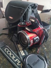 Nikon Collpix L810 Vermelha + Bolsa E Cartão 8gb
