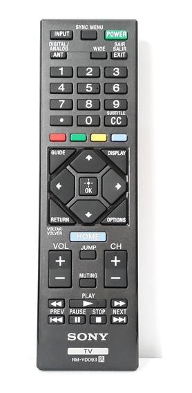 Controle Remoto Sony Original Rm-yd093 Kdl-32 Kdl-42r485