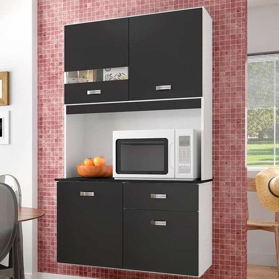Cozinha Compacta 4 Portas E 1 Gaveta Lili - Poquema