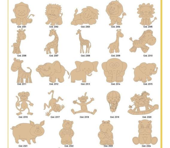 Combo Paquete Figuras Fibrofacil Souvenirs Formas Letras
