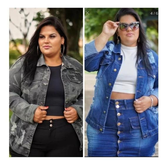 Jaqueta Feminina Combo 2 Peças Plus Size Casaco Moda Inverno