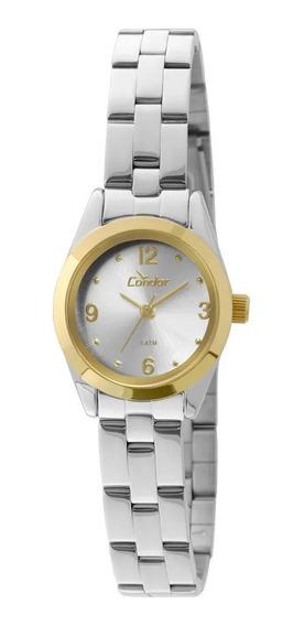 Relógio Condor Feminino Pequeno Prata Co2035kky/5k Novo E Lindo