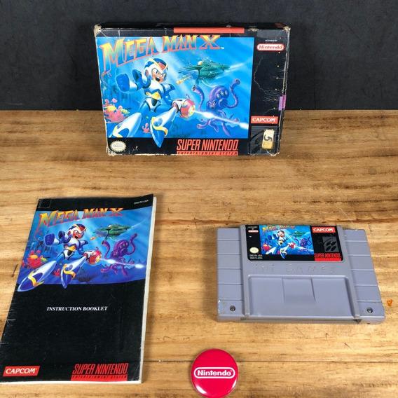 Mega Man X 100% Original Completo Cib Na Caixa P/ Snes!!