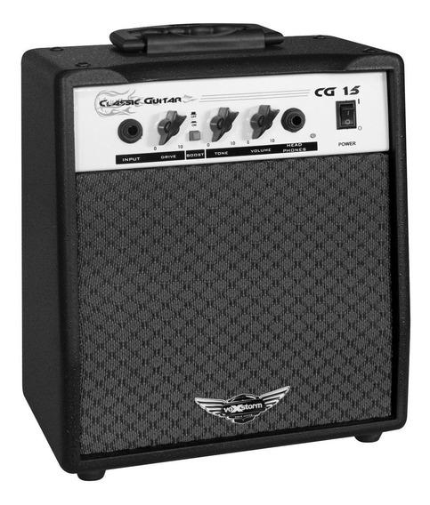 Cubo Ampli Guitarra Vox Storm Cg15 Classic Distorção C/ Nota Fiscal Em Estoque Enviado No Dia Da Compra