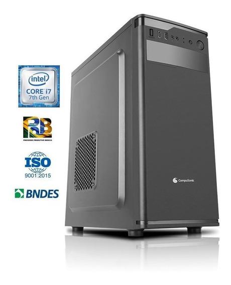 Computador Compusonic I7 7700 8gb Ddr3 Hd 1tb Sataiii