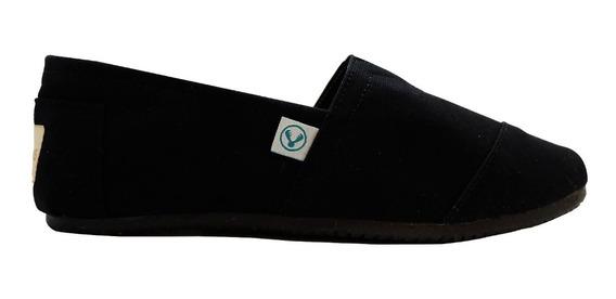 Zapato Alpargatas Korvas Negro Dama Mujer Casual