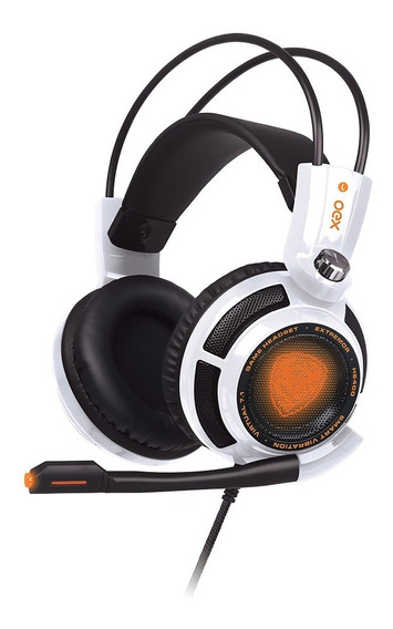 Headset Gamer Extremor Surround 7.1 Hs400 Branco Preto Oex