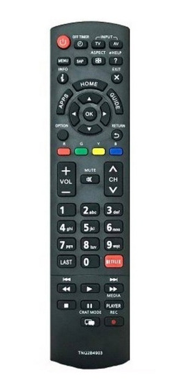 Controle Remoto Tv Led Panasonic Netflix Tc-32as600b 42as610