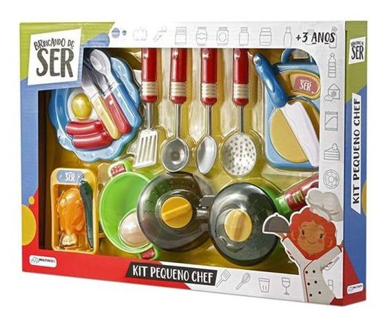 Brinquedos Menina Menino Kit Pequeno Chef Completo Multikids