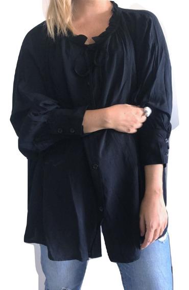 Camisa Estilo Folk En Fibrana, Vimba Store