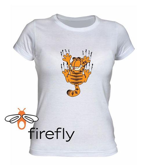 Remera Garfield Mujer Blanco Coleccion 2 Firefly