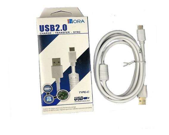 Cable De Datos Tipo C Uso Rudo S8 Note8 P10 Y Más Mayoreo