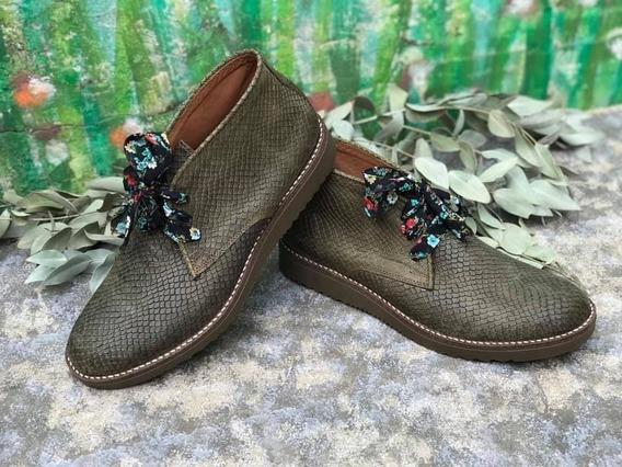 Botitas De Cuero Mujer N*44 Y 45-calzadosatlas