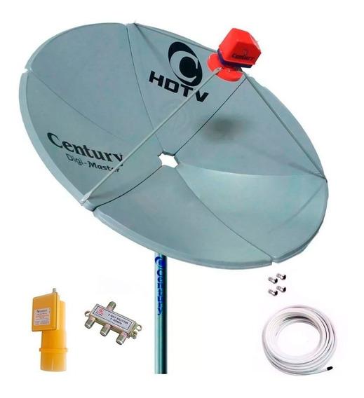 Antena Digimaster Century Chapa Super Multiponto 50m Cabo