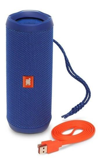 Caixa Bluetooth Jbl Flip 4 Black, Estéreo, Resistente À Água