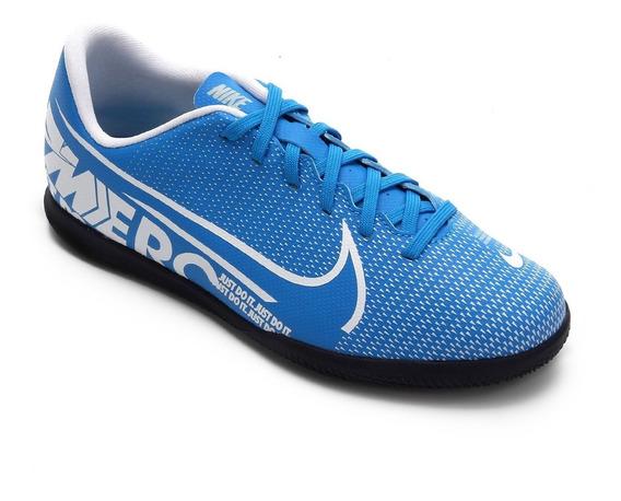 Tênis Futsal Nike Mercurial Vapor 13 Club Infantil Azul