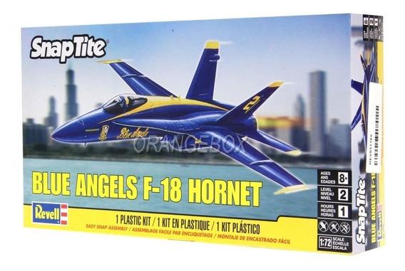 Kit Para Montar Avião Caça F-18 Blue Angels Revell 1:72