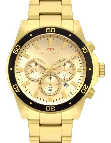 Relógio Technos Masculino Dourado Cronografo