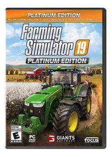 Farming Simulator 19 Platinum Edition Para Pc Nuevo