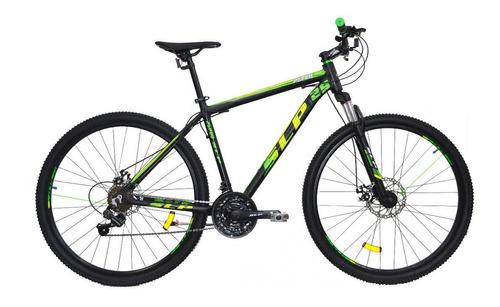 """Mountain bike SLP 5 Pro R29 18"""" 21v frenos de disco mecánico cambios SLP color negro/verde"""