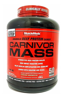 Proteina Musclemeds Carnivor Mass 6 Lbs Vainilla Caramelo