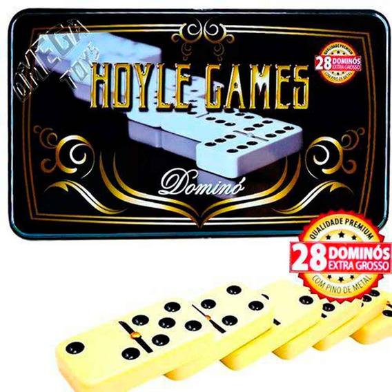 Jogo De Domino Extra Grosso 28 Peças Premium Tipo Osso