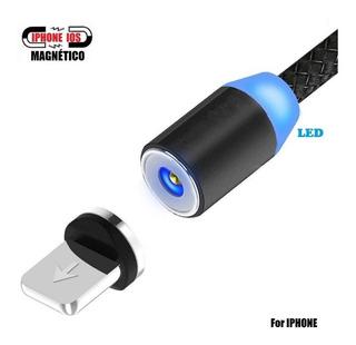 Cabo Magnético Turbo Flexível Para Carregador Celular Smartphone Para iPhone, Micro Usb E Tipo C